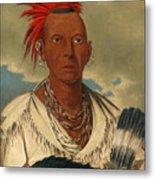Black Hawk. Prominent Sauk Chief. Sauk And Fox Metal Print