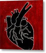 Black Heart Metal Print