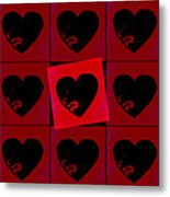 Black Hearts Metal Print