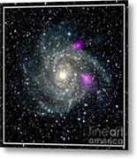 Black Holes In Spiral Galaxy Nasa Metal Print by Rose Santuci-Sofranko