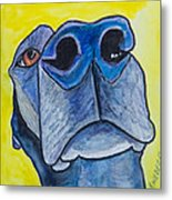 Black Lab Nose Metal Print by Roger Wedegis
