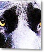 Black Labrador Retriever Dog Art - Lab Eyes Metal Print