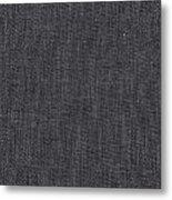 Black Linen Texture Metal Print