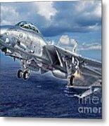Black Lion Launch - F-14D Metal Print