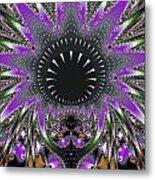 Black Magic Wand Fractal Metal Print