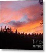 Black Mountain Sunset Metal Print