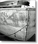 Black N White Row Boat Metal Print by Thomas Fouch