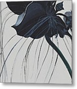 Black Orchid Metal Print