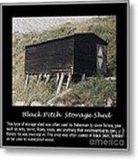 Black Pitch Storage Shed Metal Print