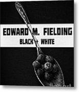 Black Plus White Book Cover Metal Print
