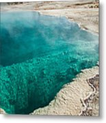 Black Pool In West Thumb Geyser Basin Metal Print