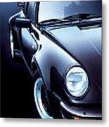 Black Porsche Turbo Metal Print