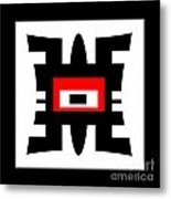 Black Red And White Abstract 0102 Metal Print