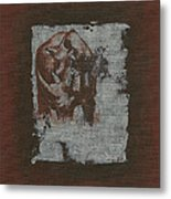 Black Rhino Metal Print
