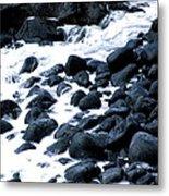 Black Rocks Along The Puna Coast Metal Print