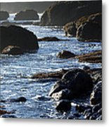 Black Rocks And Sea  Metal Print