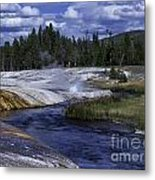 Black Sand Basin Metal Print