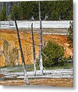 Black Sand Basin Therma Runoff Yellowstone Metal Print