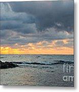 Black Sea Sunrise Before Storm Metal Print