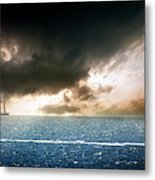 Black Sea Sunset  Metal Print