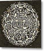 Black Sepia Oreo Metal Print