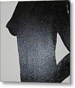 Black Silhouette Metal Print