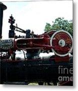 Black Steam Engine Metal Print