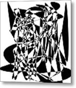 Black Stroke Metal Print