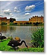 Black Swans At Leeds Castle II Metal Print