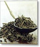 Black Tea Leaves Metal Print