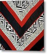 Black Thai Fabric 01 Metal Print