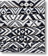 Black Thai Fabric 02 Metal Print