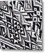 Black Thai Fabric 03 Metal Print