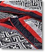 Black Thai Fabric 04 Metal Print
