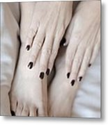 Black Tips Metal Print