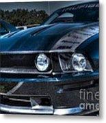 Black Truefiber Mustang Metal Print