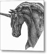 Black Unicorn Metal Print