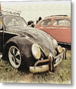 Black Vw Metal Print