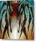 Black Widow Zombie Metal Print