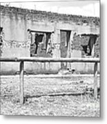 Black And White Old Ruin Metal Print