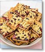 Blackberry Grated Pie Metal Print