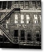 Blackened Fire Escape Metal Print