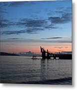 Blackrock After Sunset Metal Print by Peter Skelton