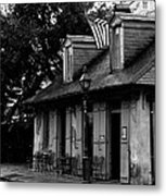 Blacksmith Shop On A Rainy Day Bw Metal Print