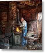 Blacksmith - The Importance Of The Blacksmith Metal Print by Mike Savad