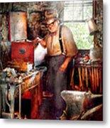 Blacksmith - The Smithy  Metal Print by Mike Savad