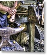 Blacksmith Working Iron V1 Metal Print