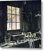 Blacksmiths Workbench - One October Afternoon Metal Print