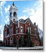 Blairsville Courthouse At Christmas Metal Print