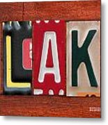 Blake License Plate Name Sign Fun Kid Room Decor Metal Print